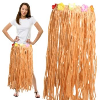 HULA SKIRT WITH FLOWER BAND