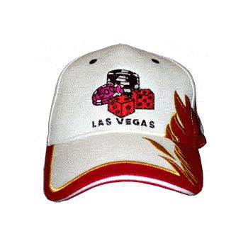 FLASHING FIBER OPTIC HAT LAS VEGAS DICE