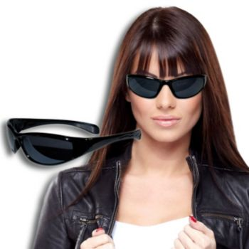 Black Wrap Sunglasses