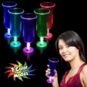 Flashing Multi-Color LED Hurricane 16 oz Glass