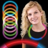 "22"" Rainbow Supreme 5 Color Glow Necklaces 6mm 50 Per Tube"