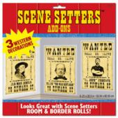 Western Wanted Signs Scene Setter Add Ons