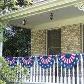 11 Foot Plastic Patriotic Bunting Decoration