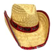 Cowboy Hat With Rolled Bandana