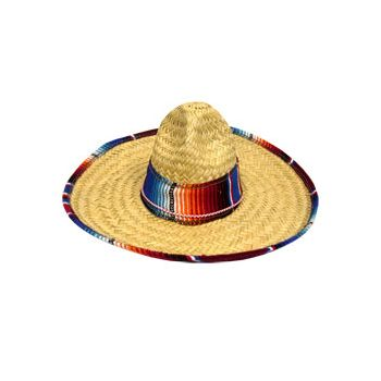 SERAPE TRIMMED   CHILD SIZE SOMBRERO