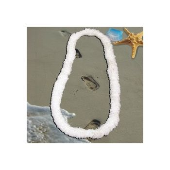 White Plastic Leis - 34 Inch, 12 Pack