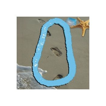 Light Blue Plastic Leis - 34 Inch, 12 Pack
