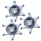 "Metal 2 1/4"" Sheriff Badges - 12 Pack"