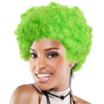 Green Team Spirit Wig