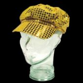 Gold Sequin Newsboy Cap