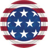 Patriotic Americana Theme Party 9 Inch Paper Plates