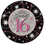 "Sweet 16 Sparkle 7"" Plates - 8 Pack"