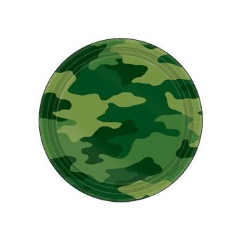 "Camouflage  7 "" Plates"