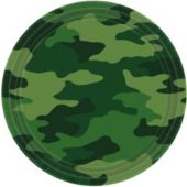 "Camouflage Theme Party 9"" Paper Plates - 8 Pack"