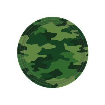 "Camouflage  9"" Plates"