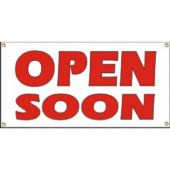 Open Soon Vinyl Banner Business Signs