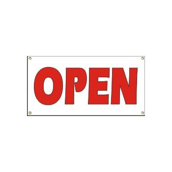 Open Heavy Duty Vinyl Banner Business Signs