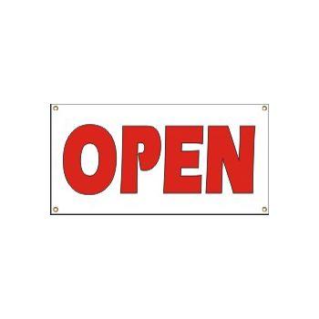 Open Heavy Duty Vinyl Banner Business Signs