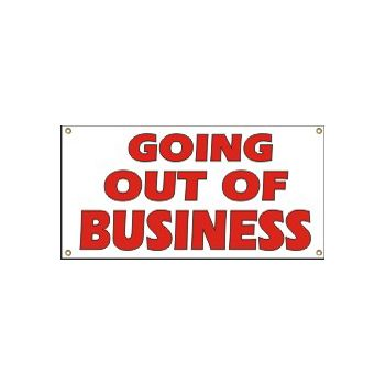 Going Out of Business Heavy Duty Vinyl Banners
