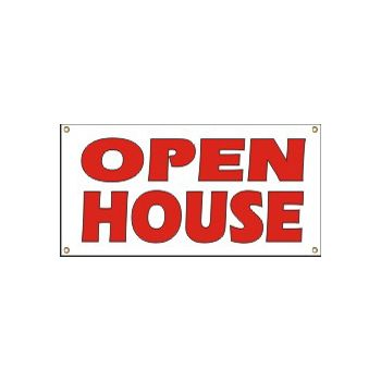 Open House Heavy Duty Vinyl Banner Business Signs
