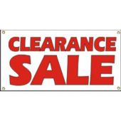 Clearance Sale Vinyl Banner Business Signs
