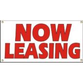 Now Leasing Vinyl Banner Business Signs