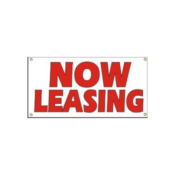 Now Leasing Heavy Duty Vinyl Banner Business Signs