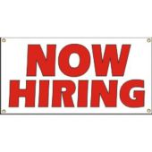 Now Hiring Vinyl Banner Business Signs