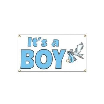 InchIts A Boy Inch Banner in a Variety Of Sizes