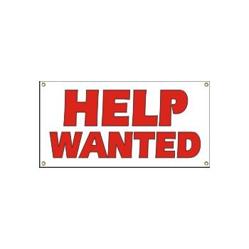 Help Wanted Heavy Duty Vinyl Banner Business Signs