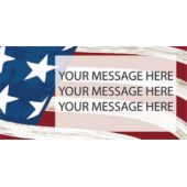 Patriotic USA Flag Background Custom Message Vinyl Banner