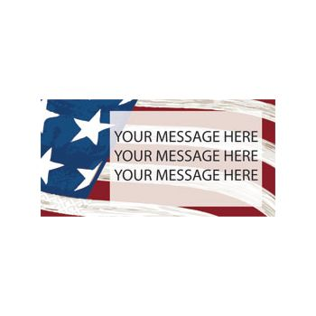 Patriotic USA Flag Background Custom Message Vinyl Banners