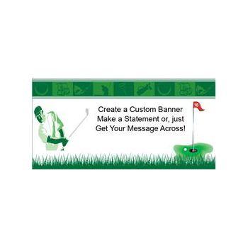 Golf Theme Heavy Duty Custom Message Vinyl Banners
