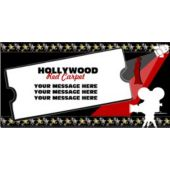 Hollywood Red Carpet Custom Message Vinyl Banner