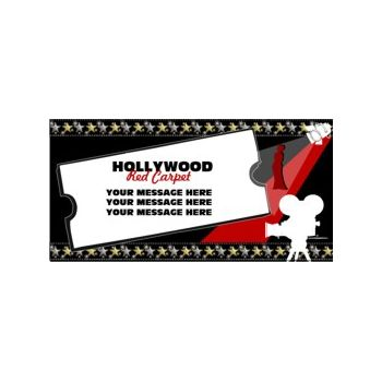 Hollywood Red Carpet Heavy Duty Custom Message Vinyl Banners