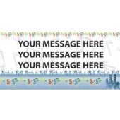 Rock And Roll Music Custom Message Vinyl Banner
