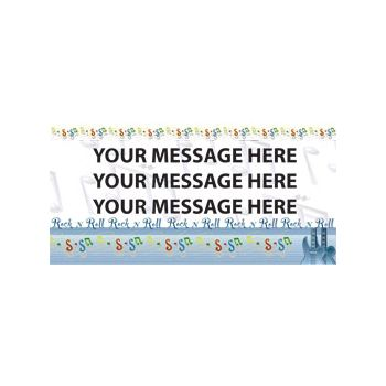 Rock and Roll Music Custom Message Vinyl Banners