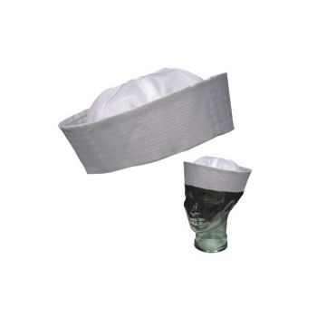 WHITE SAILOR HAT   ADULT SIZE