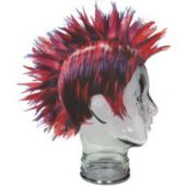 Red And Black Mohawk Wig