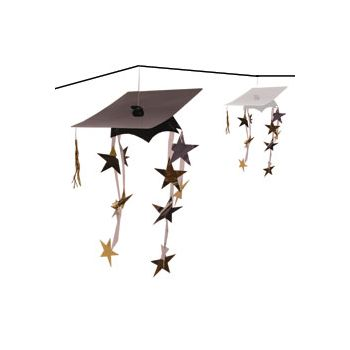 Graduation Cap 3-D Garland
