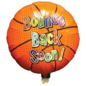 "Bounce Back Soon Metallic 18"" Balloon"
