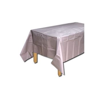 SILVER SOLID   PLASTIC TABLE COVER