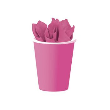 NEON PINK SOLID  9 oz. Cups