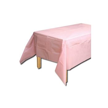 PALE PINK SOLID TABLE COVER