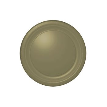 "GOLD SOLID   10 12"" PLATES"