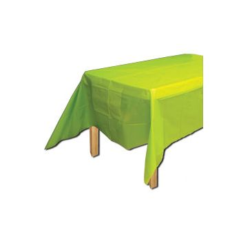 NEON GREEN   SOLID TABLE COVER