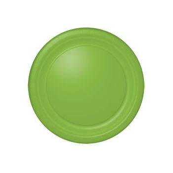 "NEON GREEN SOLID  10 12""PLATES"