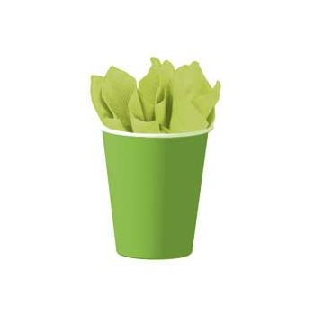 NEON GREEN   9 oz. SOLID CUPS