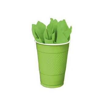 NEON GREEN SOLID  16 oz. PLASTIC CUPS