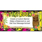 Neon Tiki Room Custom Message Vinyl Banner